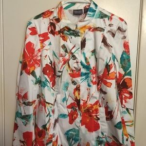 Chico's size 1 colorful jacket